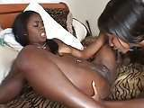 African lesbians black ebony playing with dildo and fisting