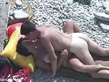 Beach side HD outdoor nude kporno.com amateur horny and yepporn.com happy couple fucking stones pornolandia.xxx on the beach