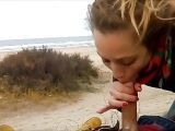 Blowjob beach sex HD txxx outdoor nude on a charming youporn beach wife likes cock sucking