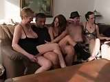 German group sex party fucking three hot beautiful girls and two hard man