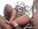 Redhead sister young teen amateur impressive outdoor video giving head hardcor outdoors