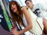 Redhead young teen Alleyway is one hot porn kitten
