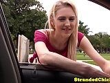 Stranded american sex HD car porn anal ass fuck teen plowed pov video for a ride