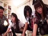 Young japanese sex three school girls